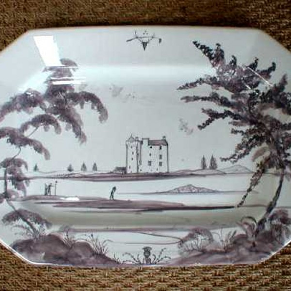 A Scottish Tower House Serving Platter