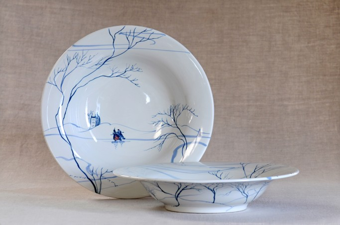 Large bowls in Blue